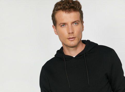 Kapüşonlu Sweatshirt Erkek